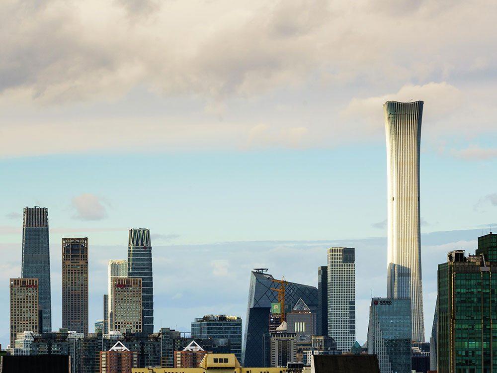 La Tour CITIC à Pékin est l'un des plus hauts gratte-ciels du monde .