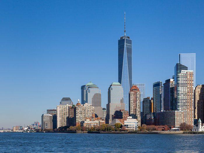 Le One World Trade Center de New York est l'un des plus hauts gratte-ciels du monde .