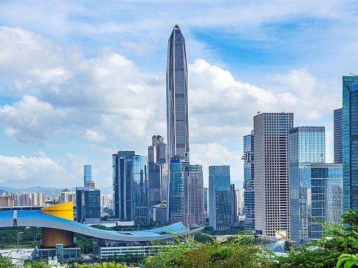 Le Ping An Financial Center est l'un des plus hauts gratte-ciels du monde .
