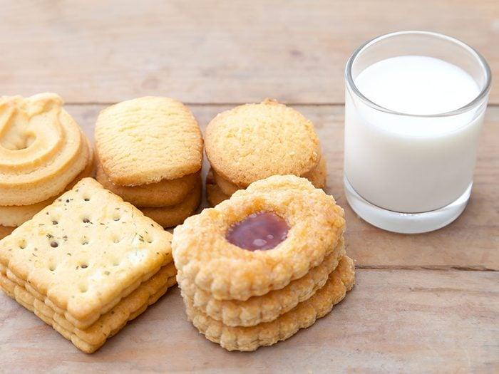 Prenez du lait et des biscuits pour vous relaxer.