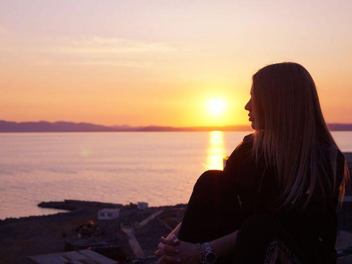 Admirez le coucher de soleil pour vous relaxer.