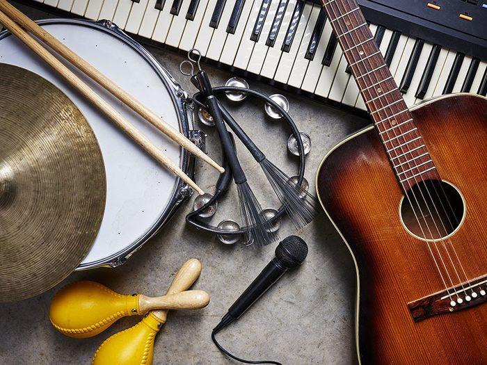 Faites de la musique pour vous relaxer.