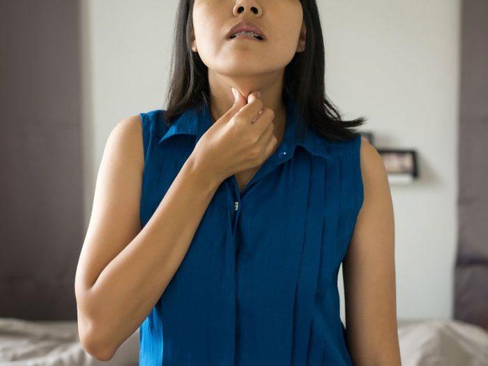 Si vous pouvez sentir que vos ganglions sont enflés vous souffrez peut-être d'une infection à streptocoque.