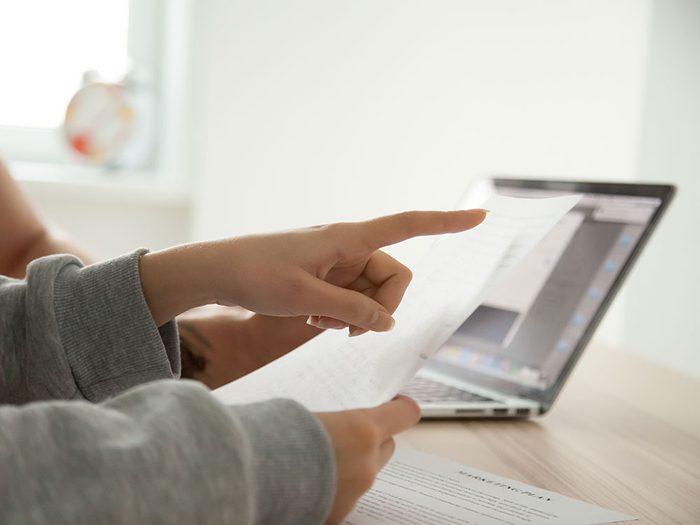 Traitez de sujets importants avec vos proches tels que les documents personnels.