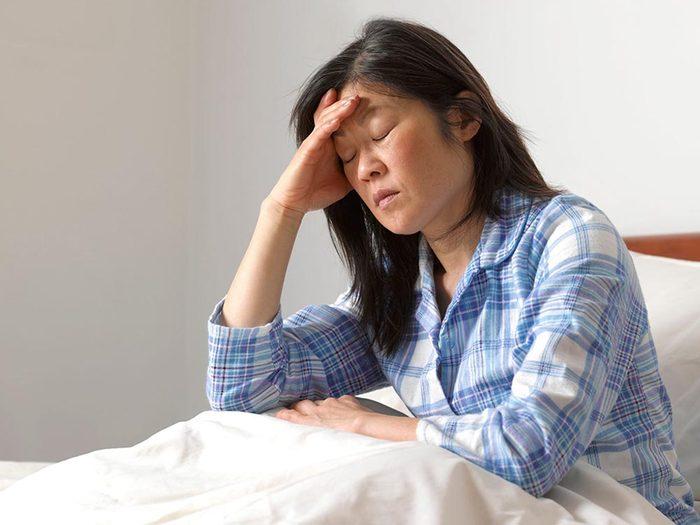 Votre anxiété vous empêche de dormir.