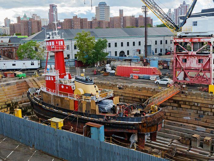 Visitez le chantier naval de Brooklyn lors de votre séjour à New York.
