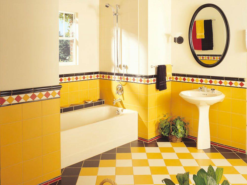 Tout le monde avait de la céramique de douche bizarre dans sa maison dans les années 1990.