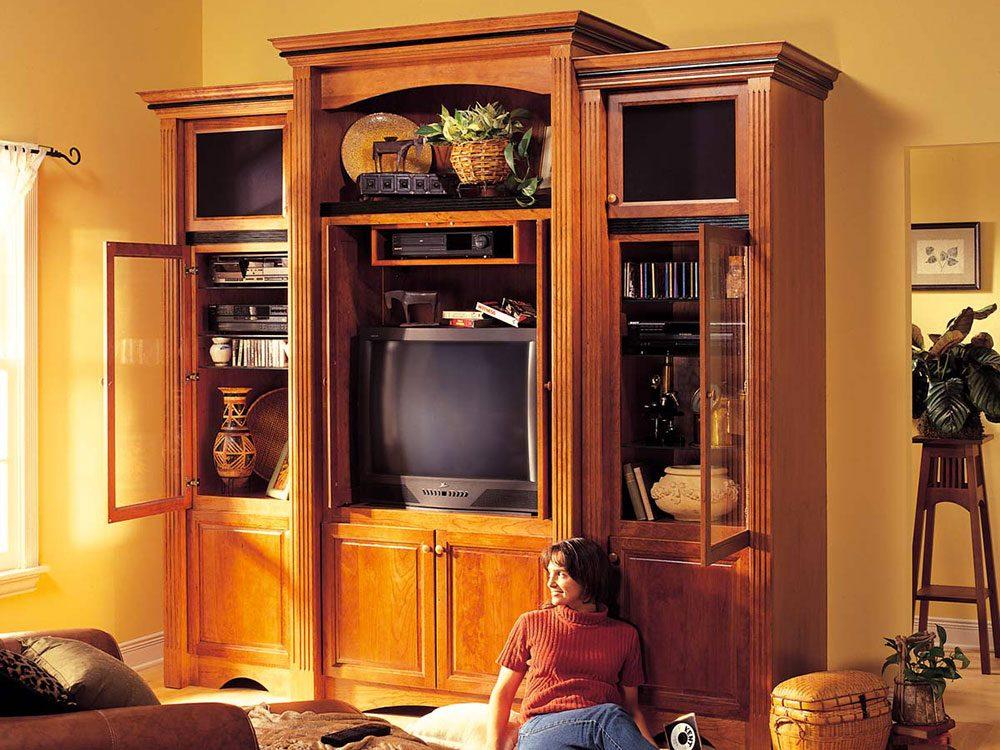 Tout le monde avait des centres de divertissement imposants dans sa maison dans les années 1990.