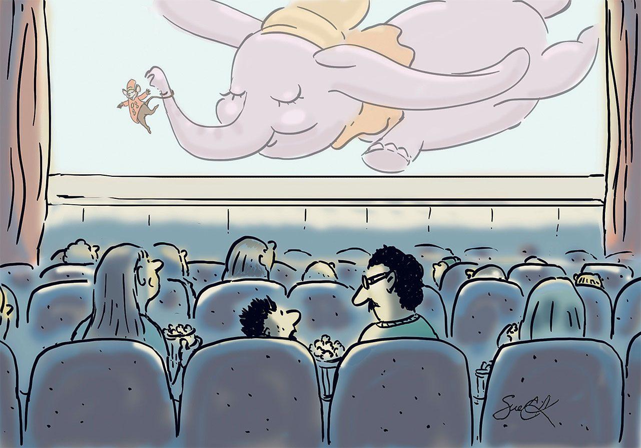 Caricature sur le cinéma.