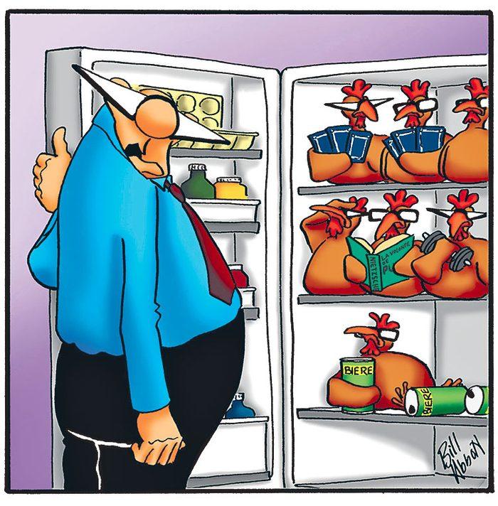 Caricature sur le quotidien.