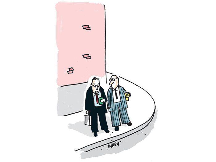 Caricature sur la technologie.