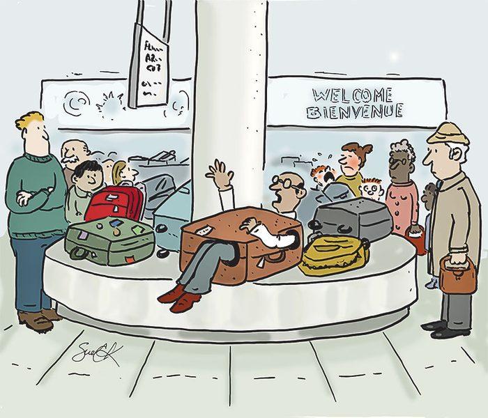 Caricature sur les aéroports.