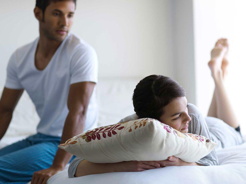Règle qu'il est permis de briser dans un couple: ne pas aller au lit en colère.