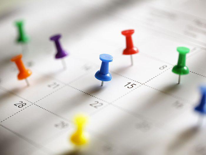 Les dates conseillées pour entreprendre la cure correspondent plus ou moins à celles du calendrier.