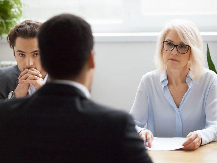 """Lors d'une entrevue d'embauche apprenez à répondre à la question suivante: """"quel est votre plus gros point faible?"""""""