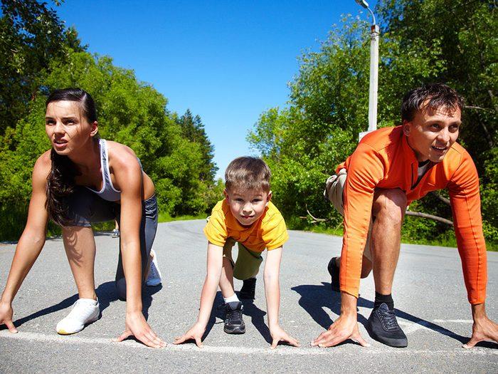 Courir pour Leucan est une course familiale et c'est aussi l'occasion de faire du sport pour la bonne cause.