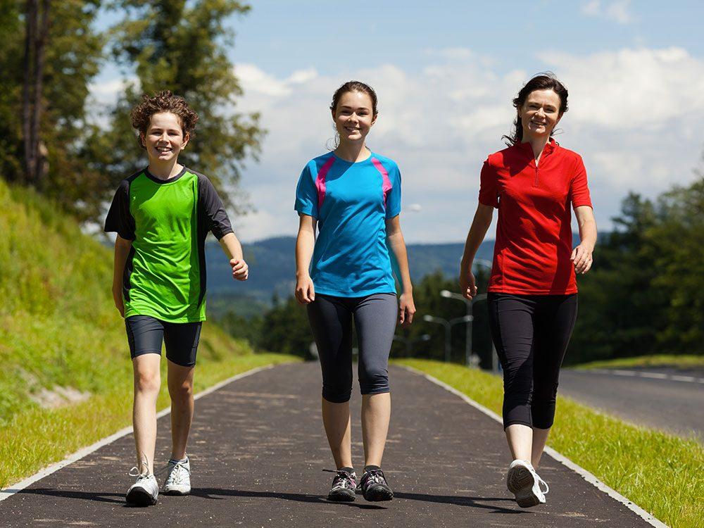 Faites du sport pendant la marche du Grand défoulement est une activité ouverte à tout le monde.