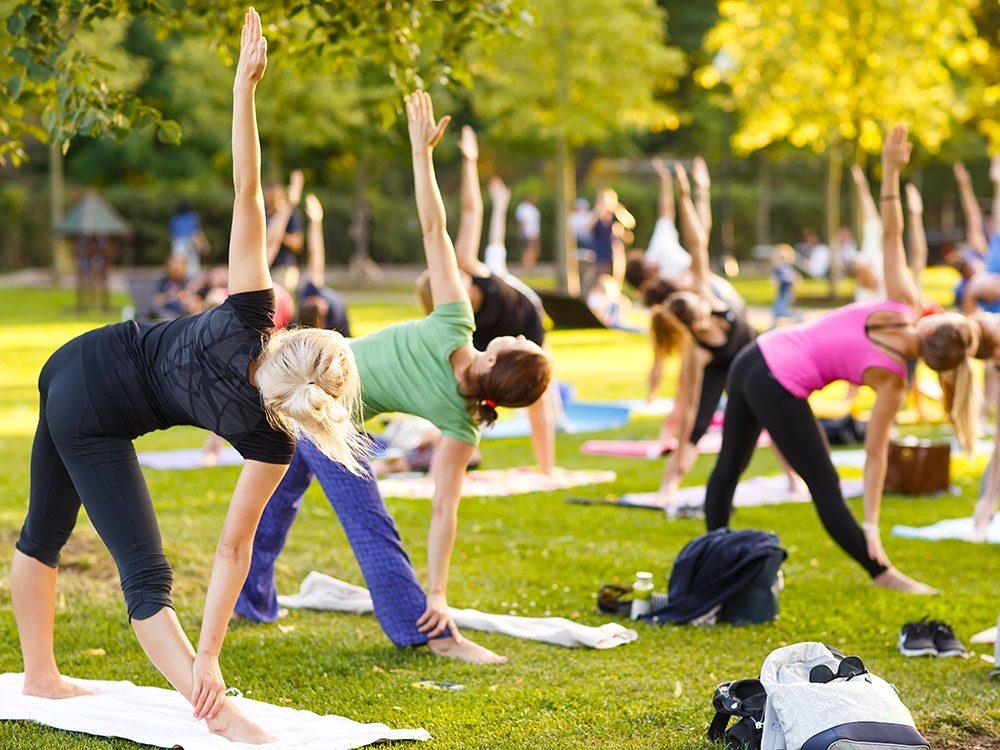 YOMNI est un moyen de faire du sport pour la Fondation cancer du sein du Québec.