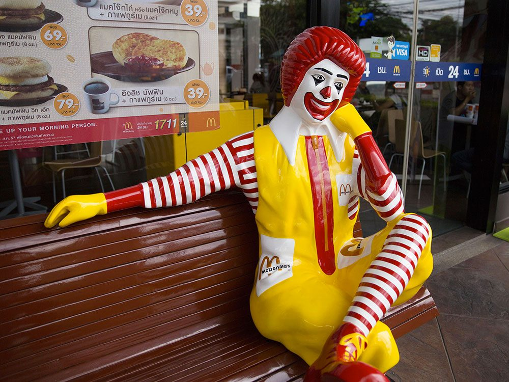 Personne ne sait qui a créé le personnage de clown de McDonald's.