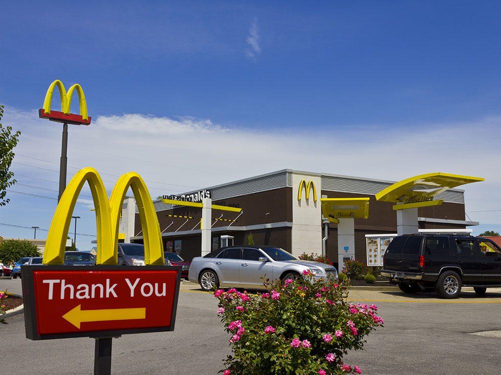 McDonald's ne possède pas le service au volant le plus rapide.