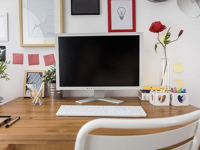 Rangez le bureau pendant votre ménage d'automne.