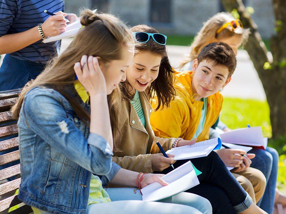 Le mieux vivre des jeunes est important. Leurs préoccupations na changent pas au fil des années.