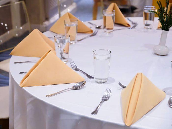 Le linge de table coûte bien plus que vous ne le pensez aux restaurateurs.