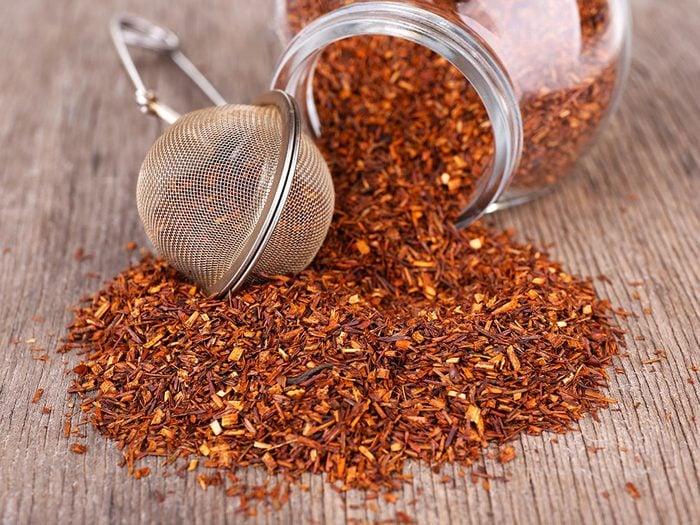 Les effets secondaires potentiels du thé rooibos.