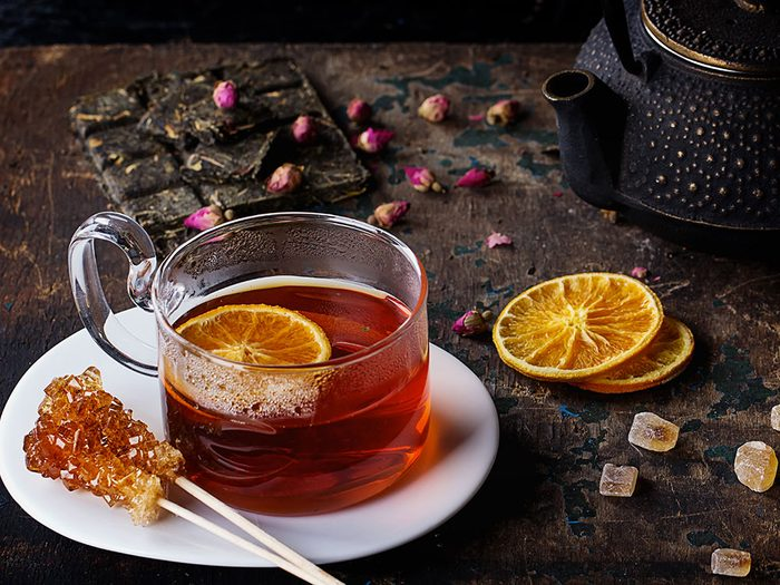 Le thé rooibos a un effet anti-âge.