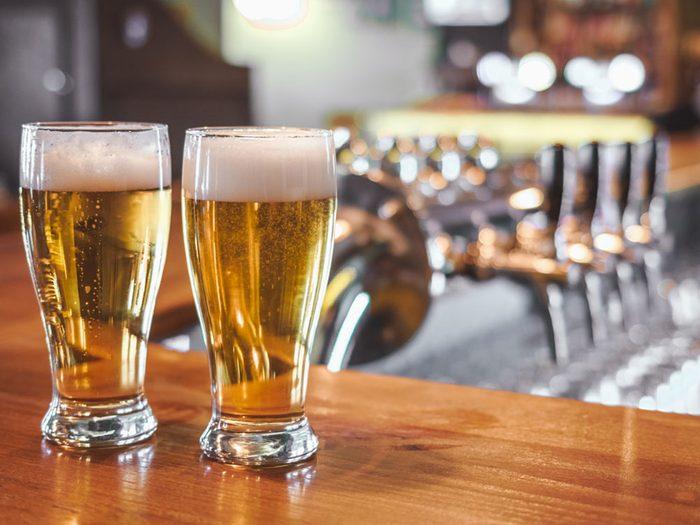 Attention, la bière n'est pas végétalienne.