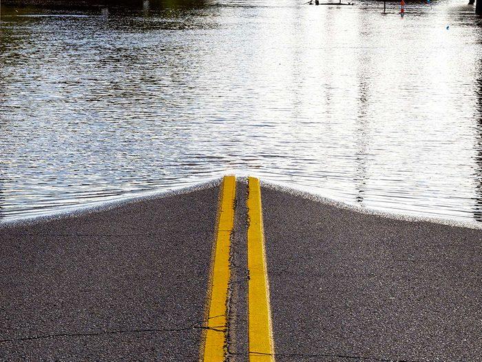 Inondations suite à des pluies torrentielles un vendredi 13.
