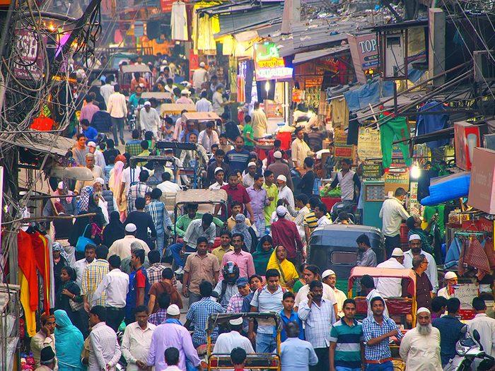 Delhi en Inde est l'une des villes les plus peuplées au monde.