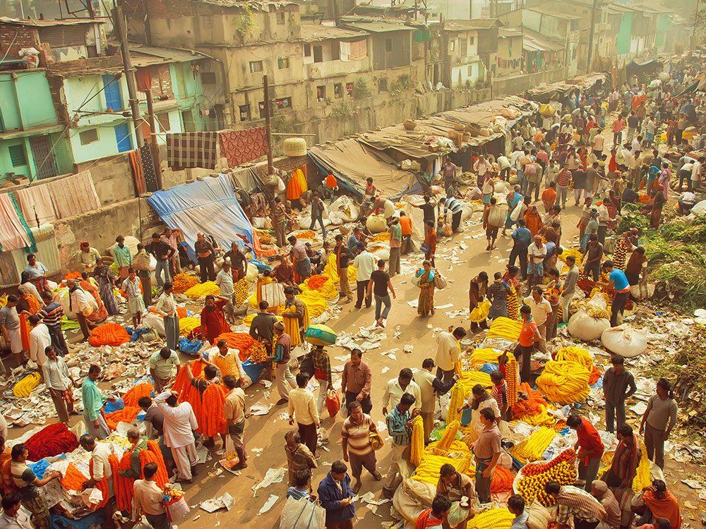 Kolkata en Inde est l'une des villes les plus peuplées au monde.