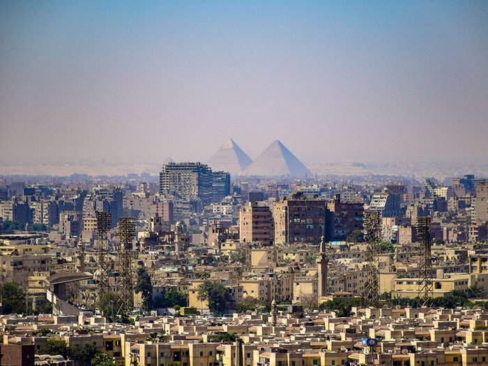 Le Caire en Égypte est l'une des villes les plus peuplées au monde.