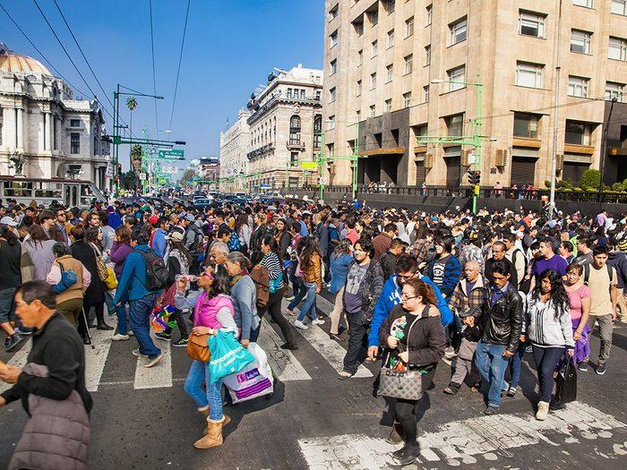 Mexico City au Mexique est l'une des villes les plus peuplées au monde.