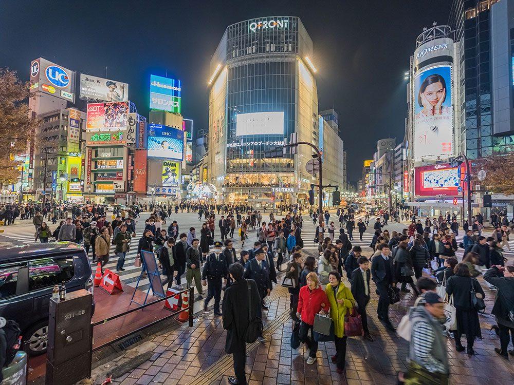 Tokyo au Japon est l'une des villes les plus peuplées au monde.