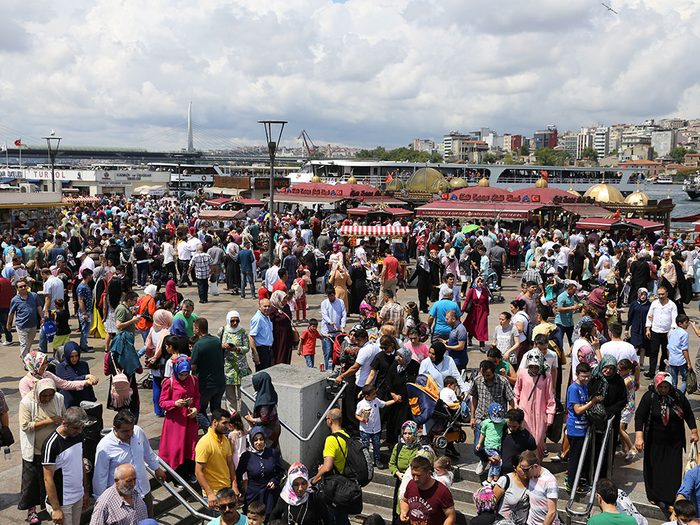 Istanbul en Turquie est l'une des villes les plus peuplées au monde.