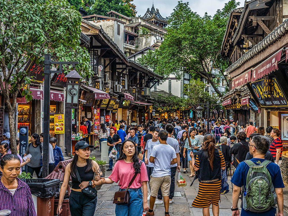Chongqing en Chine est l'une des villes les plus peuplées au monde.