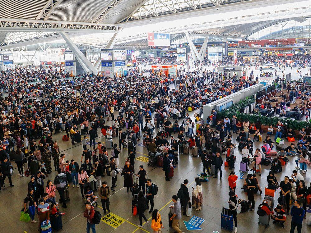 Guangzhou en Chine est l'une des villes les plus peuplées au monde.