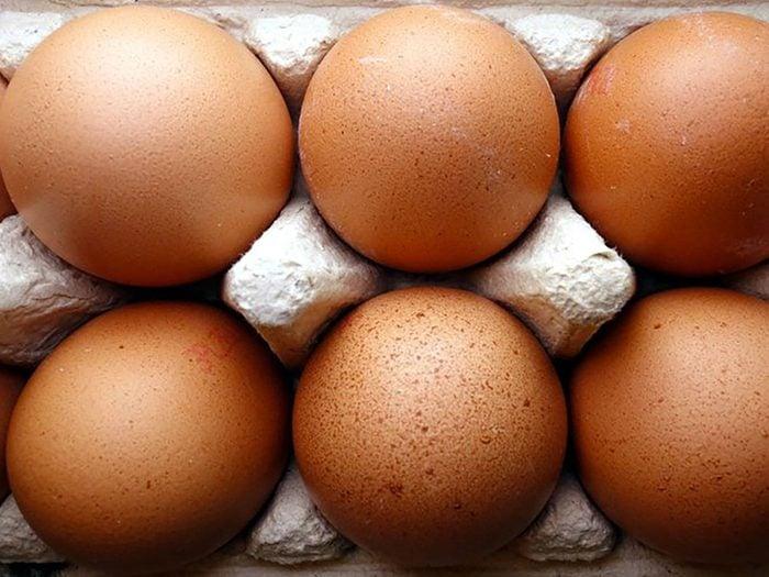 Les oeufs sont riches en vitamine D.