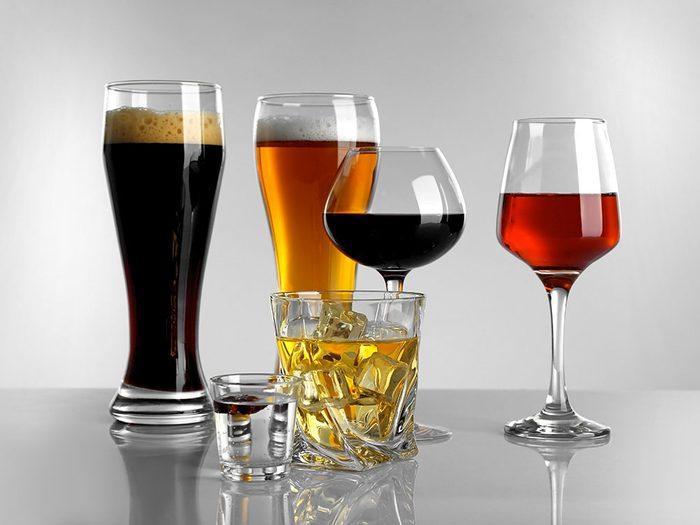 Les astronautes ne peuvent pas boire d'alcool.