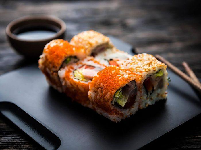 Les sushis ne sont pas aussi bons pour la santé que ce qu'on pense.