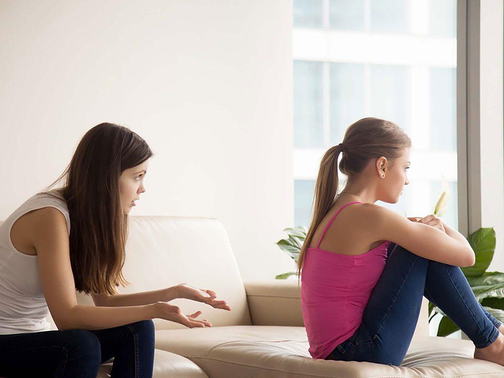 Un conflit entre amis peut venir d'un déséquilibre dans la relation.
