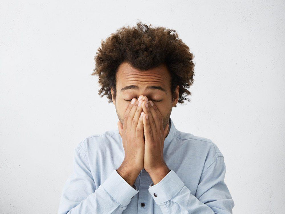 L'impossibilité d'accomplir les tâches quotidiennes est un des symptômes classiques de dépression.