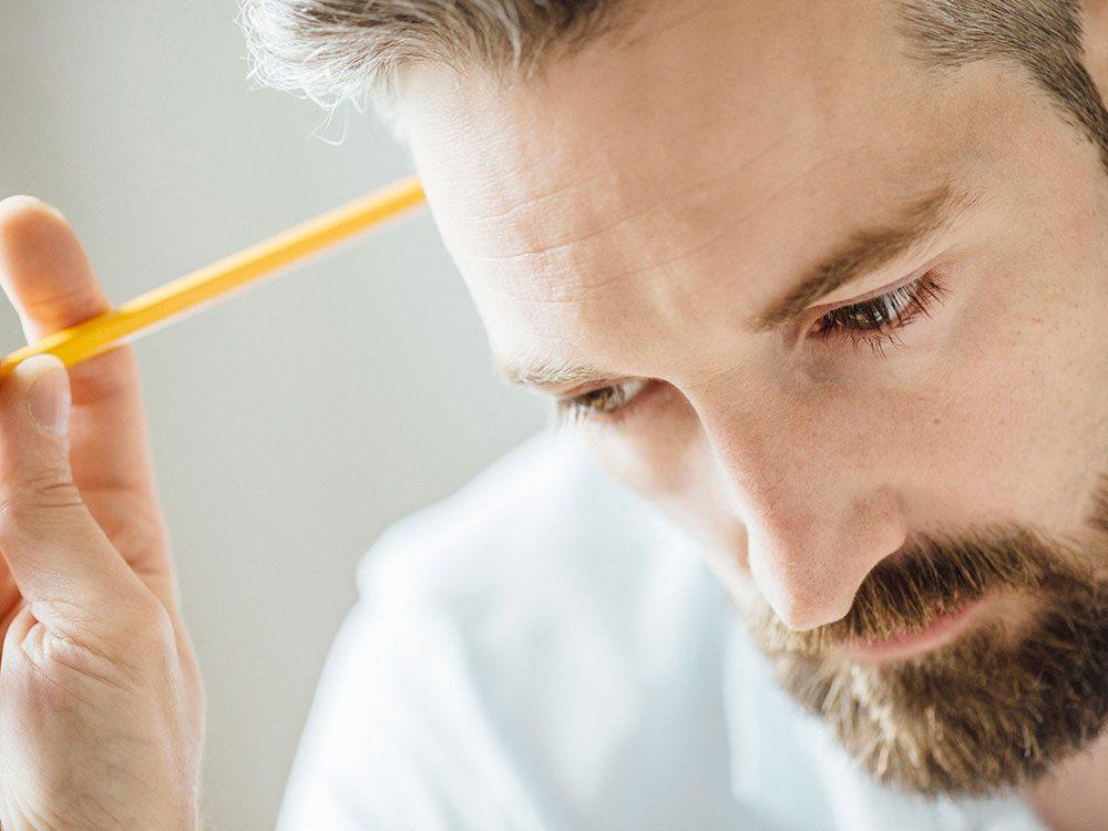 Le manque de concentration est un signe de la dépression nerveuse.