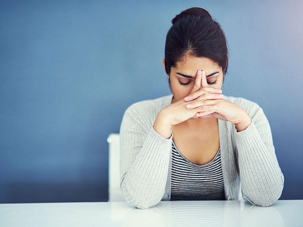 L'anxiété permanente est un signe de dépression nerveuse.