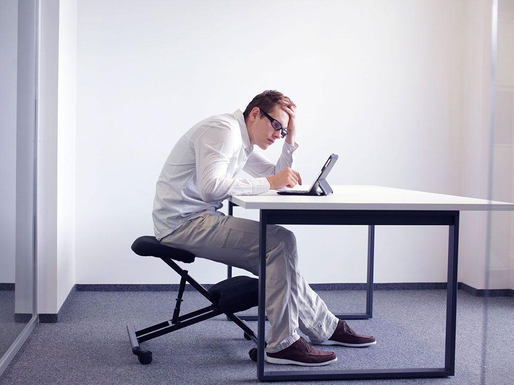 Une mauvaise posture peut être un signe de la dépression nerveuse.