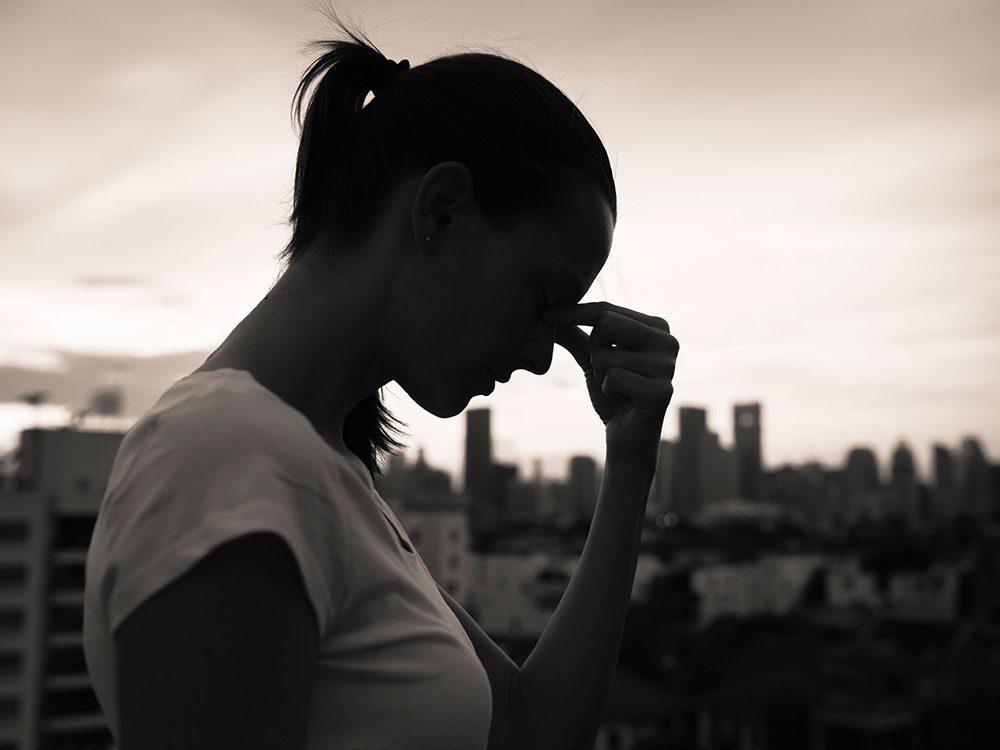 Les symptômes d'une dépression nerveuse.