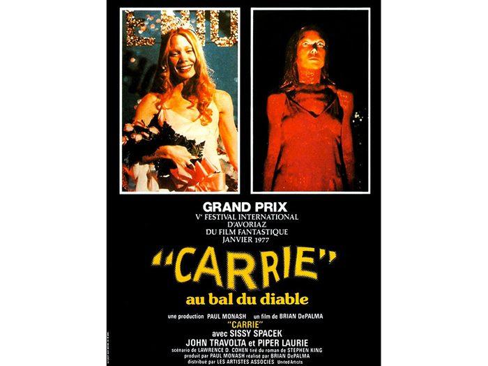 Carrie au bal du diable est l'un des films d'horreur à voir absolument.