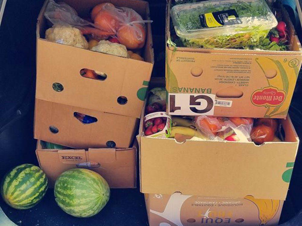 La collecte chez divers partenaires pour éviter le gaspillage alimentaire.